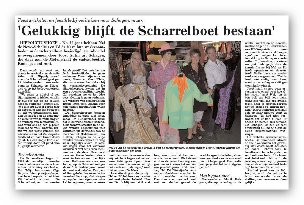 krantbericht scharrelboet