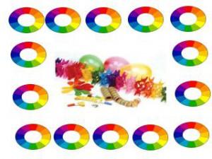 feestversieringen op kleur